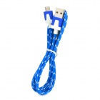 JJBY PVC Micro USB Charging / Data Cable for Cellphones - Blue (100cm)