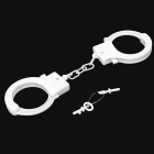 Stylish Glow-in-the-dark ABS Handcuffs Toy - Milky White