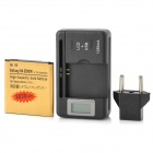 "Replacement ""3030mAh"" Battery + USB AC Power 0.8"" LCD Battery Charger for Samsung Galaxy S4 Zoom"