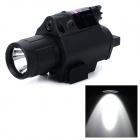 TD-605 5mW Green Laser Gun Sight + 110LM LED Torch Light for 21mm Rail Gun - Black