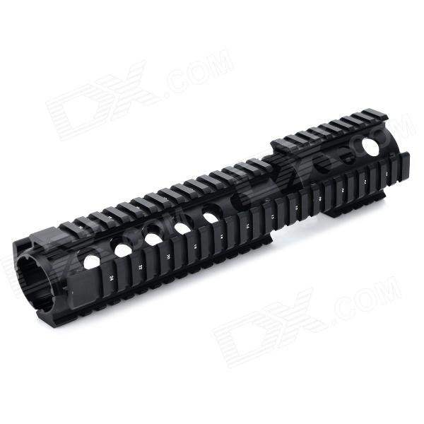 Y0057 20mm 4-faced Gun Guide Rail Mount for AR15 / M4 - Black stepper motor t type wire rod linear guide rail electric slide rail automatic rail control module table stock