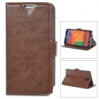 Protective PU Leather Case for Samsung Galaxy Note 3 N9000 - Red Brown