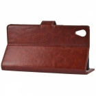 A-336 Protective PU Leather Case for Sony Xperia Z1 L39h - Brown