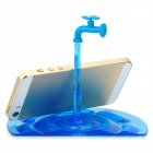 DS002 Creative Water Faucet Style Polycarbonate + ABS Stand for Iphone / Ipad / Samsung - Lake Blue