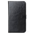 A-335 Stylish Flip-Open PU Leather Case / Stand for Samsung Galaxy Note 2 / N7100 - Black
