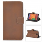 Protective PU Leather Case for Samsung Galaxy Note 3 N9000 - Brown