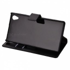 A-336 Protective PU Leather Case for Sony Xperia Z1 L39h - Black