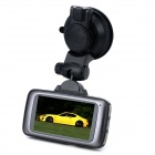 "L8000F 1080P 2.7"" TFT 8.0MP CMOS Wide Angle Car DVR w/ GPS Tracker / TF / HDMI - Black"