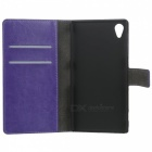 A-336 Protective PU Leather Case for Sony Xperia Z1 L39h - Purple