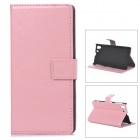 A-336 Protective PU Leather Case for Sony Xperia Z1 L39h - Pink
