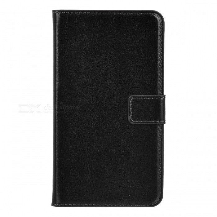 Protective Flip Open PU Leather Case w/ Stand / Card Slots for Samsung Note 3 N9000 - Black protective flip open pu case w stand card slots strap for samsung galaxy note 3 n9000 white