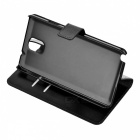 Protective Flip Open PU Leather Case w/ Stand / Card Slots for Samsung Note 3 N9000 - Black