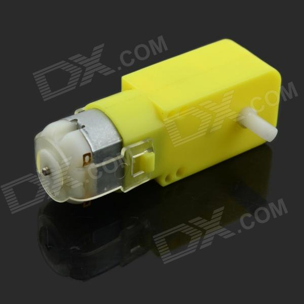 Jtron DC Gear Motor / Magnetic Anti-interference Smart Car Chassis - Yellow + Silver (DC 3~6V) ufc 2 ps4
