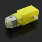 Jtron DC Gear Motor / Magnetic Anti-interference Smart Car Chassis - Yellow + Silver (DC 3~6V)
