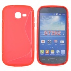 """S"" Style Protective TPU Back Case for Samsung Galaxy Trend Lite S7390 / S7932 - Red"