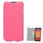 KALAIDENG Protective PU Leather Case for Samsung Galaxy Note 3 N9000 - Deep Pink