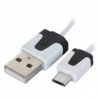 01 USB 2.0 Male to Micro USB Male Data/Charging Cable for Samsung / Sony / HTC (80cm)