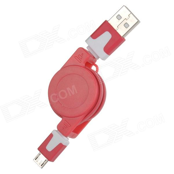Фото USB 2.0 to Micro USB Retractable Data Charging Cable - Red + White yuanxin x 2012re usb 2 0 charging data extension cable for samsung red white 80cm