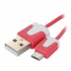USB 2.0 to Micro USB Retractable Data Charging Cable - Red + White