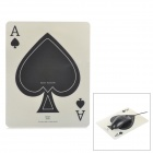 Poker-Pfirsich-Herz-Muster Anti-Rutsch-Gummi-Mouse Pad - White + Black