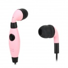 S-40 3,5 mm Klinkenstecker In-Ear-Ohrhörer w / Mini-USB / Clip - Pale Pink + Black