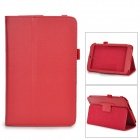 Protective Lichee Pattern PU Leather Case for Asus ME173X - Red