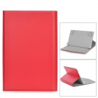 "Universal Lichee Pattern Protective PU Leather + ABS Case for 7"" Tablet PC - Red"