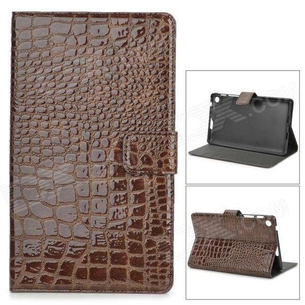 Protective Alligator Pattern PU Leather Case w/ Card Slot for Google Nexus 7 II - Brown protective pu leather case w card slots for google nexus 7 ii deep pink brown