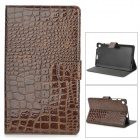 Protective Alligator Pattern PU Leather Case w/ Card Slot for Google Nexus 7 II - Brown