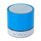 S08 Portable Bluetooth v3.0 Speaker w/ TF / FM / Microphone - Blue + White