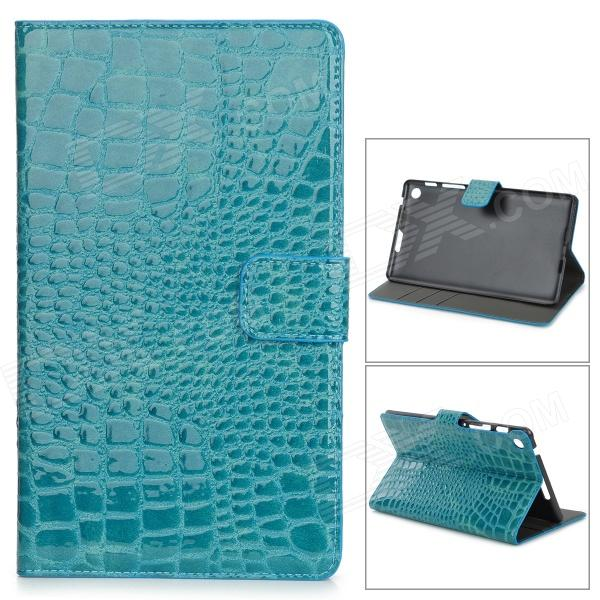 Schutz Alligator Muster PU-Leder Fall w / Card Slot für Google Nexus 7 II - Aquamarine