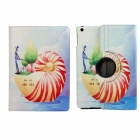 Snail Pattern 360 Degree Rotation Protective PU Leather Case Stand w/ Auto Sleep Cover for Ipad AIR