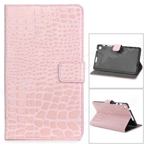 Protective Alligator Pattern PU Leather Case w/ Card Slot for Google Nexus 7 II - Pink protective pu leather case w card slots for google nexus 7 ii deep pink brown