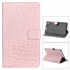 Protective Alligator Pattern PU Leather Case w/ Card Slot for Google Nexus 7 II - Pink