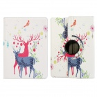Deer Pattern 360 Degree Rotation Protective PU Leather Case Stand w/ Auto Sleep Cover for Ipad AIR