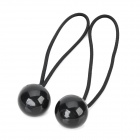 Stylish Ball Style Plastic Cable Ties - Black (2 PCS)