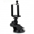 Universal ABS Car Mount Holder + Ventosa para Iphone / Samsung / HTC + Mais - Preto