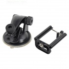 Universal ABS Car Mount Holder + Sugkopp för iPhone / Samsung / HTC + Mer - Svart