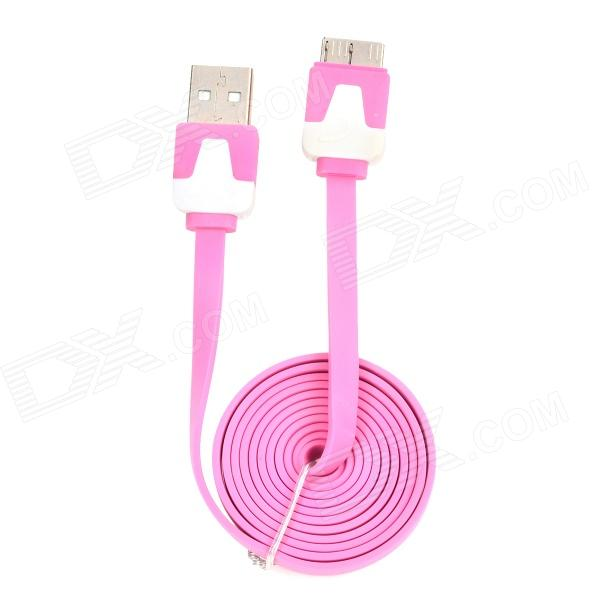 Micro USB 3.0 Male to USB 2.0 Male Data Cable for Samsung Galaxy Note 3 N9000 + More - Pink (100cm) micro usb male to usb male data charging cable for samsung galaxy note 2 3 more 294cm