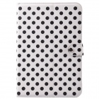 Dot Pattern PU Leather + Plastic Protective Case for Calaxy Note 10.1 N8000 - White + Black