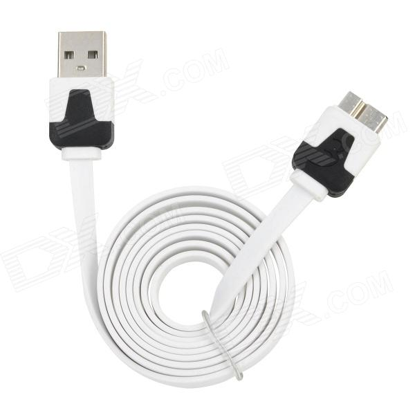 Micro USB 3.0 Male to USB 2.0 Male Data Cable for Samsung Galaxy Note 3 N9000 + More - White (100cm) 103b universal usb to micro usb data charging cable for samsung htc more deep pink 100cm