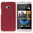 ENKAY Quicksand Style Protective Plastic Back Case for HTC One M7 - Red