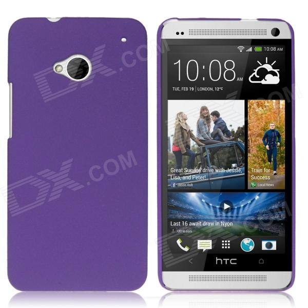 ENKAY Quicksand Style Protective Plastic Back Case for HTC One M7 - Purple protective matte frosted back case for htc one x s720e black