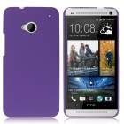 ENKAY Quicksand Style Protective Plastic Back Case for HTC One M7 - Purple