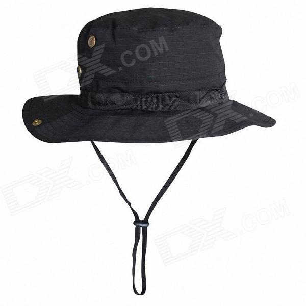 Outdoor Camping Fishing Hat - Black