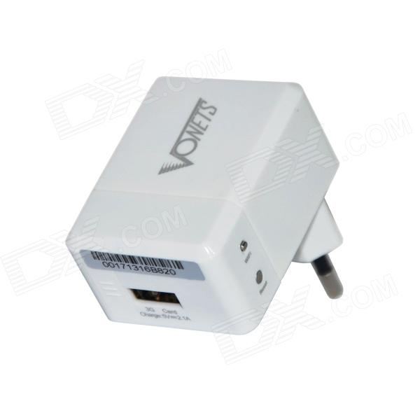 VONETS VRP150 Mini Wi-Fi AP Repeater Wireless 3G Router w/ 2.1A USB EU Plug Charger - White