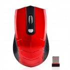 2,4 GHz Wireless Optical Mouse 1750DPI - Rot + Schwarz (2 x AAA)