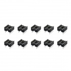 8PIN Integrated Circuit Sockets / Chip Base - Black (10 PCS)