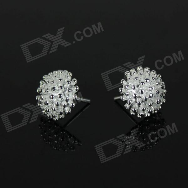 Stylish Fireworks Style 925 Silver Earrings - Silver (Pair)