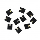 2.54mm Single Row Pin Jumper Cap / Short Block / Connection Block - Black (10PCS)